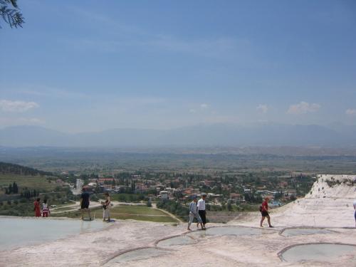 Blick auf Pamukkale Koy und die weite