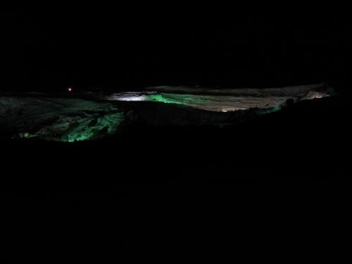 die Sinterterrassen bei Nacht