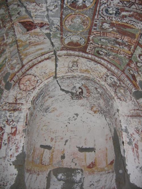 Kirche von Innen - das letzte Foto vor dem Sturz