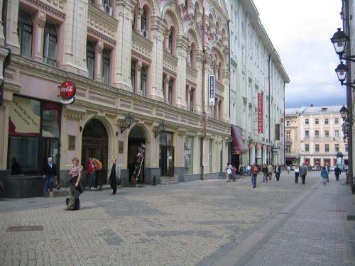 Scarlett auf der Stoleschnikow Strasse in Moskau