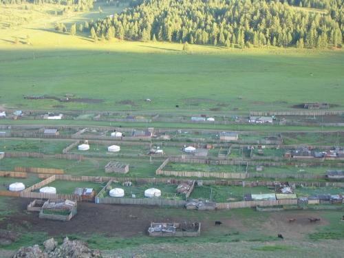 Unser Dorf von einem Huegel aus