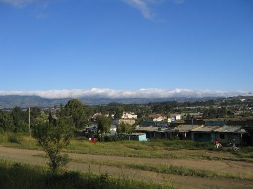Ein Stadtteil von Mbeya in den Bergen