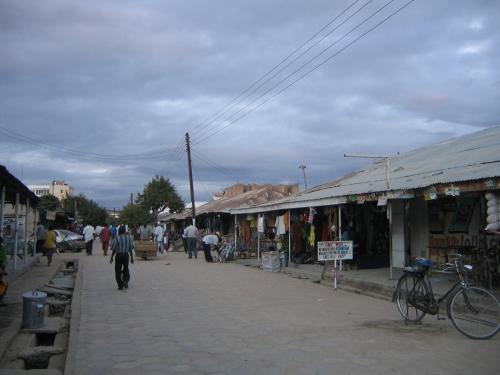 Die Fussgaengerzone von Dodoma