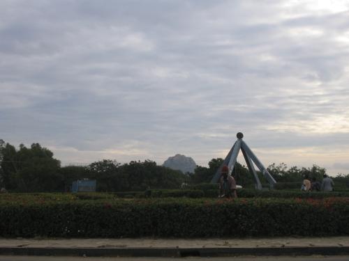 Ein Kreisverkehr in Dodoma