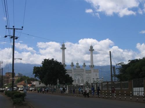 Eine Moschee in Moshi