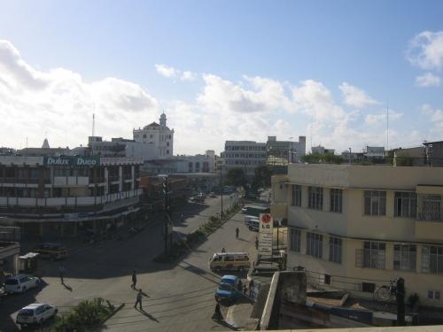 Blick auf die Haile Selassie Road in Zentral Mombasa