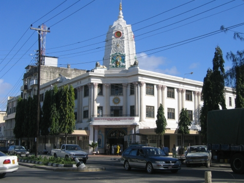 Ein hindiuistischer Tempel auf der Haile Selassie Road