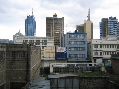 Blick aus meinem Hotelzimmer in Nairobi