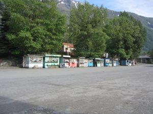 Der Marktplatz in Kasbegi