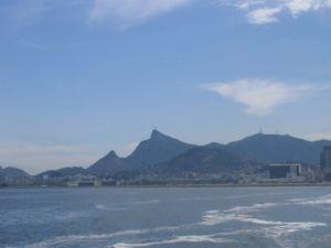Rio Zentrum vor Jesus auf dem Corcovado