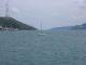 Segelschiff am Ende des Bosporus