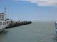 Angler am Hafenpier