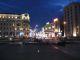 Naechtlicher Blick die Tverskaja Ulica hinaf