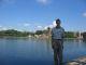 Jeff am Ufer eines Parksees nahe dem lokalen OWIR