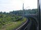 Der Zug in einer der seltenen Kurven