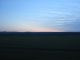 Sonnnuntergang aus dem Zug in der Mongolei