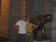 Benjamin und Scarlett vor dem Restaurant in Hangzhou