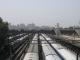 Letzter Blick auf Delhi von der New Delhi Train Station