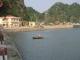 Ein vietnamesisches Boot im Hafen
