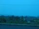 Blick durchs getoente Fenster auf die Lampung Bucht