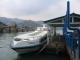 Das Speedboot im Hafen von Merak auf Java