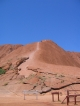 Der Fussweg hinauf auf den Uluru