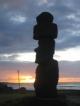 Moai am Aho Taukira im Sonnenuntergang