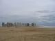 Der gleiche Strand an einem regnerischen Tag