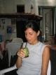 Sabrina trinkt Mate