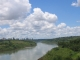 Der Rio Parana, links das argentinische Puerto Iguazu, links Paraguay