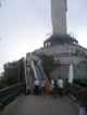 Eine Rolltreppe zur Aussichtsplattform
