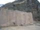 Unfertige Waende in den Ruinen von Ollantaytambo