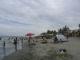 Der Strand der Insel am Sonntag