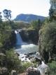 Der Wasserfall nahe des Sani Pass Hotels