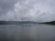 Die Lagune von der Mitte der langen Eisenbahnbruecke