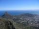 Blick auf Lions Head, Signal Hill und Downtown Kapstadt