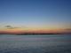 Eine Fischerinsel vor der untergehenden Sonne